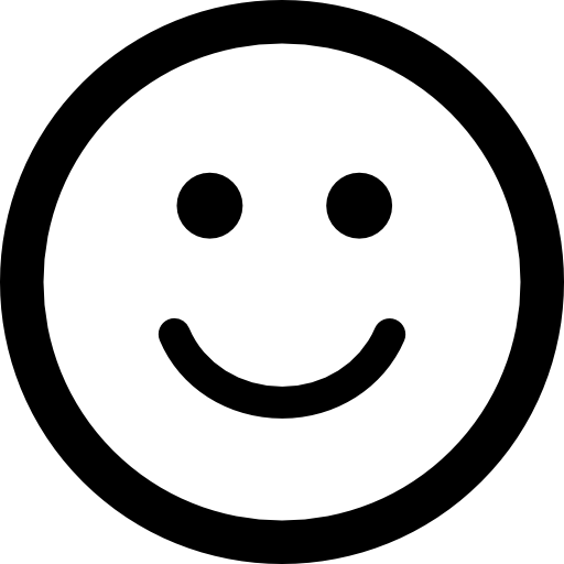 smiling emoticon square face